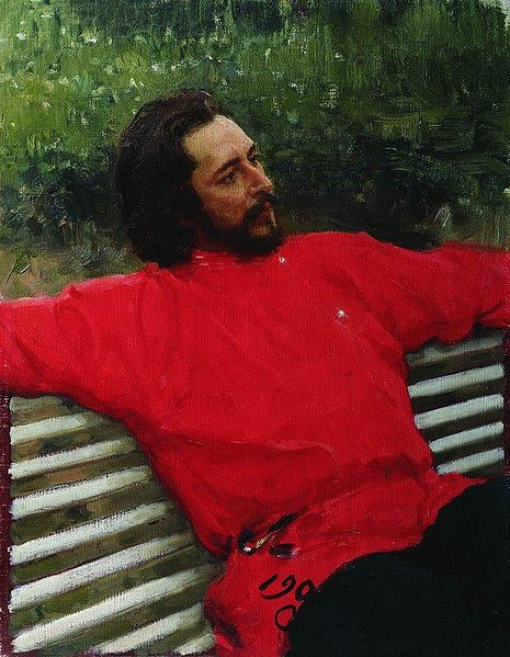 Portrait of Leonid Andreyev by Ilya Repin, 1905