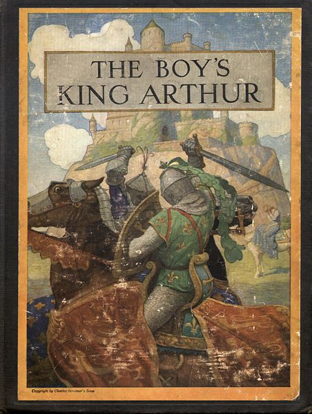 Cover of The Boy's King Arthur, 1922. N.C. Wyeth.