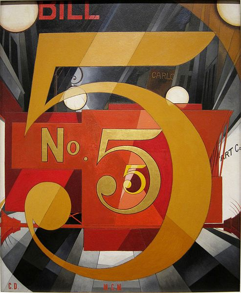 I Saw the Figure 5 in Gold by Charles Demuth, 1928