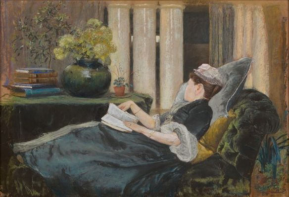 Louise Tiffany Reading by Louis Comfort Tiffany, 1888