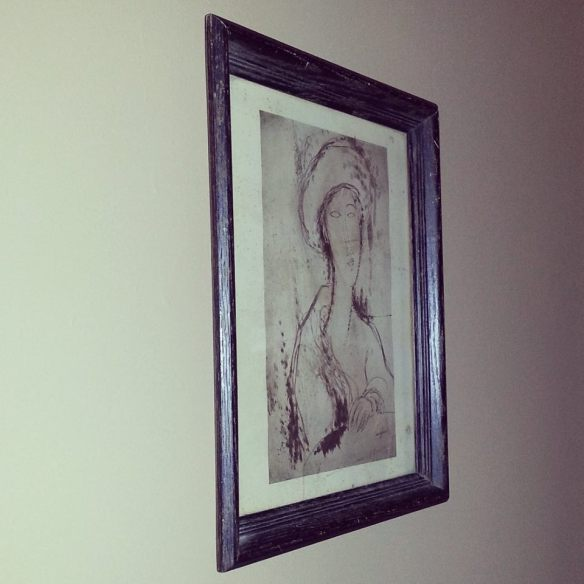 Second-hand Modigliani print
