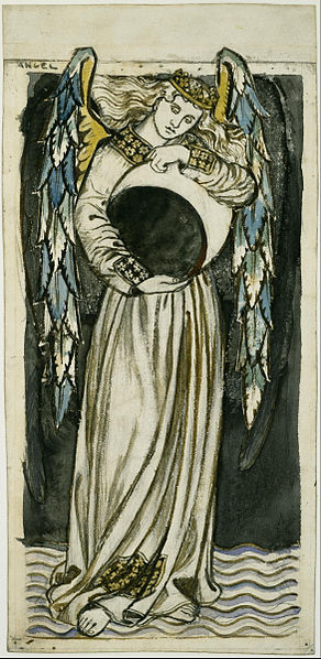 Night Angel Holding a Waning Moon by William Morris