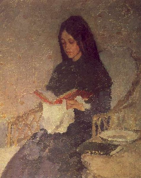 The Seated Woman by Gwen John, circa 1910