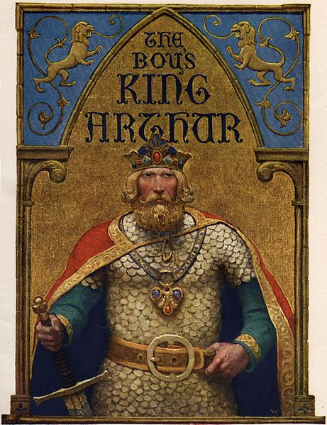 Title page of The Boy's King Arthur. N.C. Wyeth.