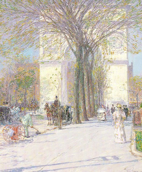 Washington  Arch, Spring by Childe Hassam, circa 1893