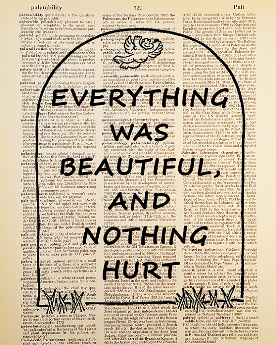 Kurt Vonnegut Quote Dictionary Art Print by Improvisatori