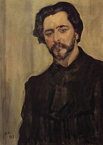 Portrait of the Writer Leonid Andreyev by Valentin  Serov, 1907