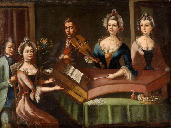 18th century house concert. Unknown artist.