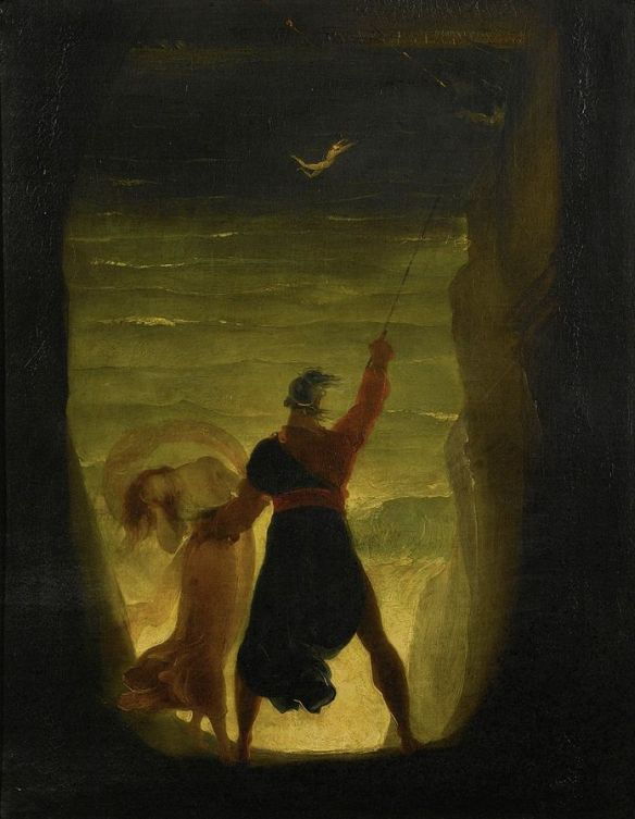 A Scene from The Tempest, Prospero and Ariel by Joseph Severn