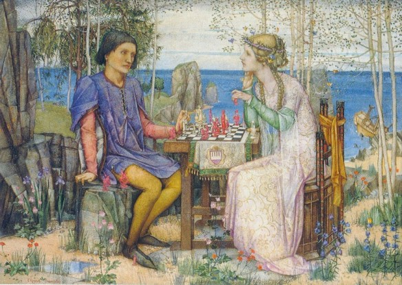 Ferdinand and Miranda, Scene  from The Tempest   by Edward Reginald Frampton