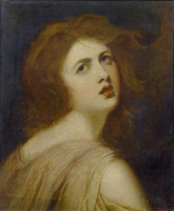 A Study of Emma, Lady Hamilton, as Miranda by George Romney