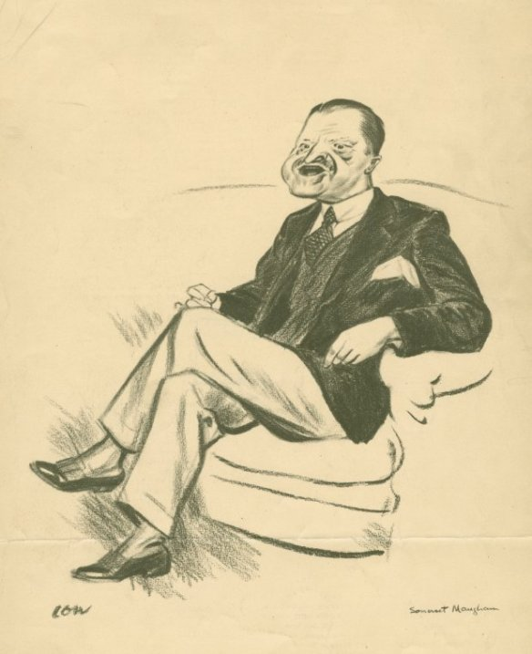 Caricature of W. Somerset Maugham