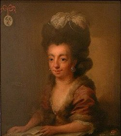 Portrait of Juliana Cornelia de Lannoy by Niels Rode. 18th century.