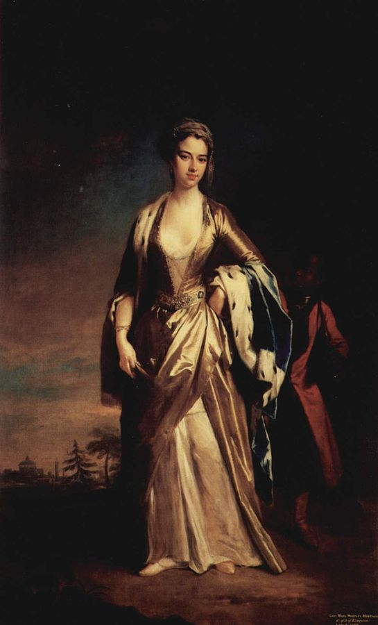 Portrait of Lady Mary Wortley Montagu by Jonathan Richardson the Younger