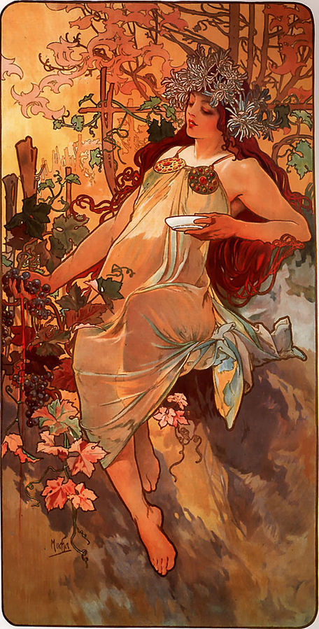 Autumn by Alfons Mucha, 1896
