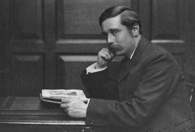 H.G. Wells by F. Hollyer, 1890