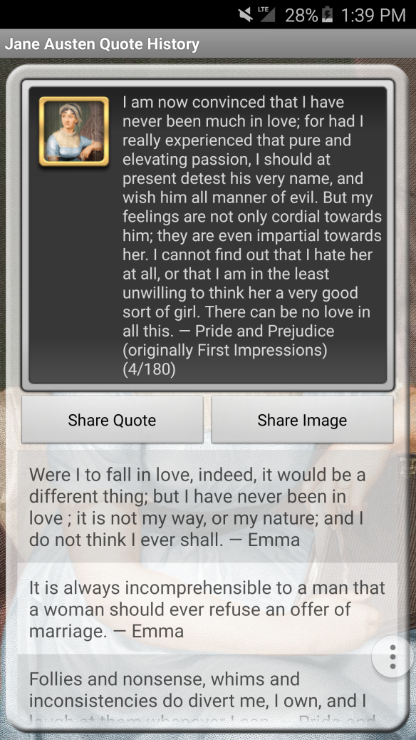 Jane Austen Quote App