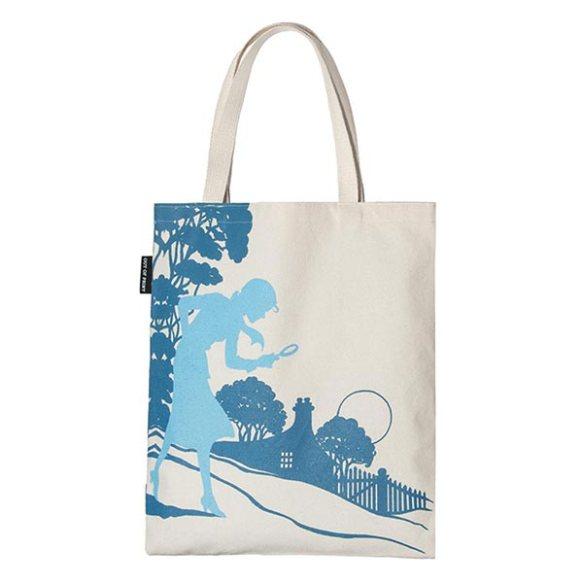 Reverse Side of Nancy Drew Tote Bag at Bas Bleu