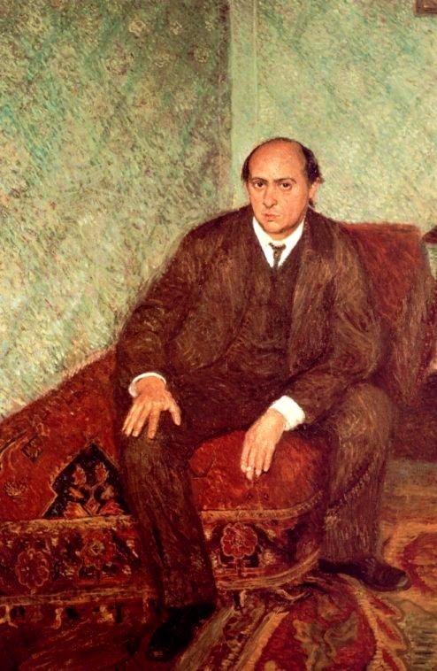 Arnold Schoenberg Seated by Richard Gerstl, circa 1905-1906. Vienna Museum.