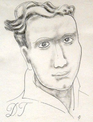 Dylan Thomas by Jessica Dismorr, 1935