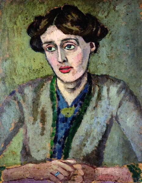 Portrait of Virginia Woolf by Roger Fry. Circa 1917.