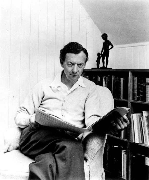 Publicity Photo of Benjamin Britten, 1968. Hans Wild for High Fidelity magazine.