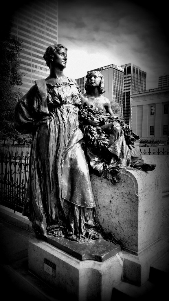 Statue on the Ohio Statehouse Grounds. Columbus.