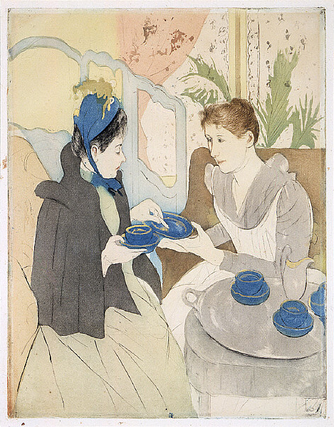 Afternoon Tea Party by Mary Cassatt, 1891. Saint Louis Museum of Art.