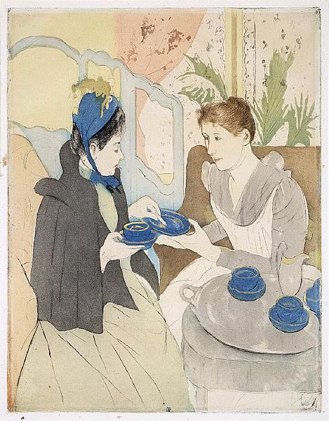 Afternoon Tea Party by Mary Cassatt, 1891. Saint Louis Museum of Art.