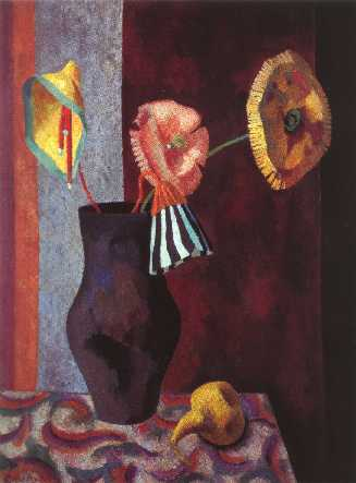 Still Life with Omega Flowers by Roger Fry, 1919