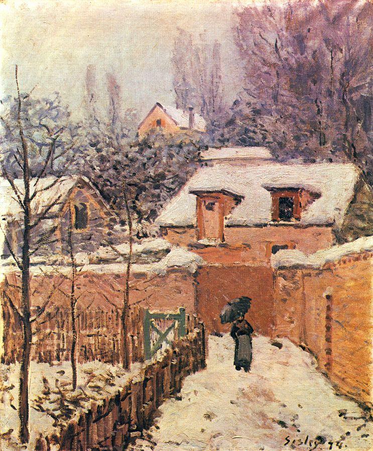 Garten im Louveciennes im Schnee by Alfred Sisley, 1874