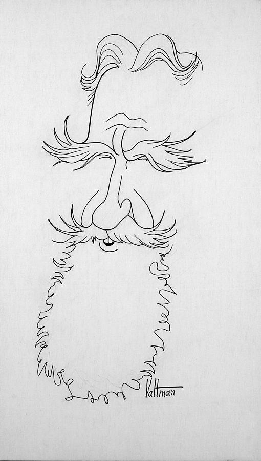 Amazing Caricature of George Bernard Shaw by Edmund Valtman, 1964