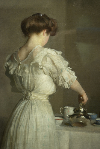 Tea Leaves by William Paxton, 1909