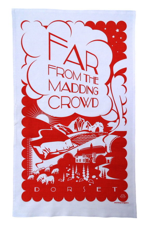 Far From the Madding Crowd Tea Towel by Alison Lang Design