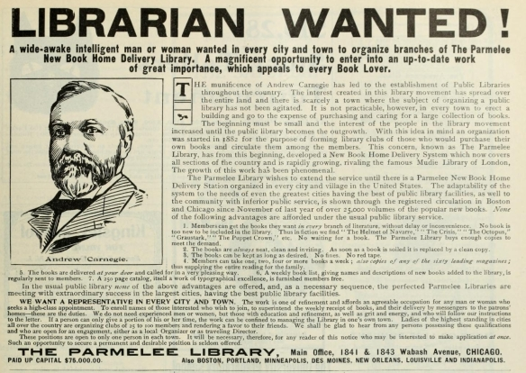 LIBRARIAN WANTED!