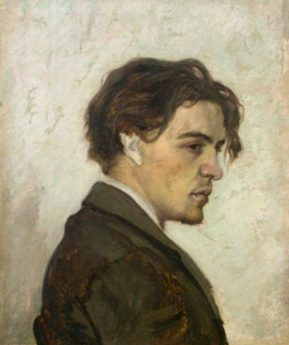 Portrait of Anton Chekhov by his brother Nikolay