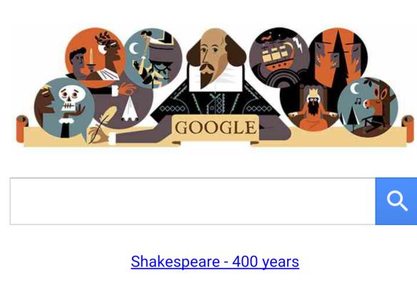 Shakespeare 400 Google Doodle