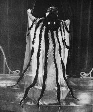 Bebe Daniels in The Octopus Gown designed by Clare West for the film The Affairs of Anatol (1921)