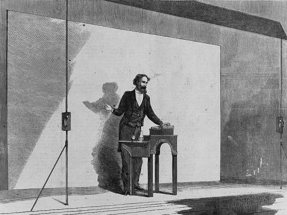 Charles Dickens Giving a Reading, 1867