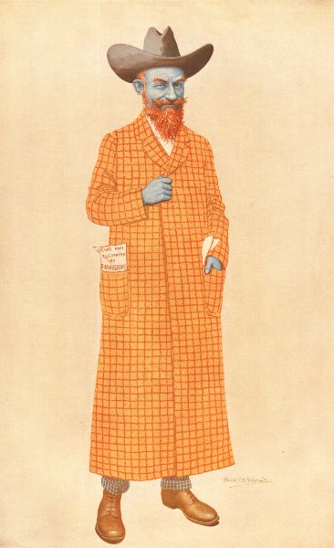 Caricature of George Bernard Shaw in the 16 August 1911 issue of Vanity Fair