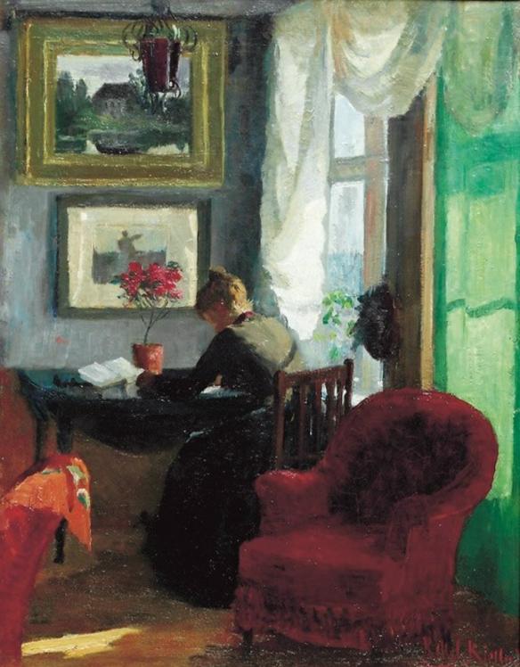 Interior by Kitty Lange Kielland, 1883