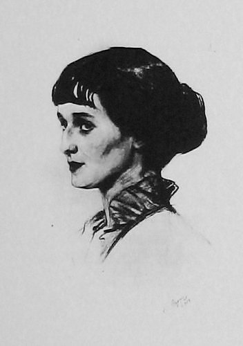 Anna Akhmatova by Savely Sorin, 1913-1914