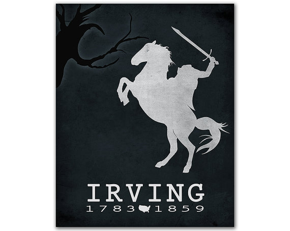Washington Irving Print by Creative Daffodil