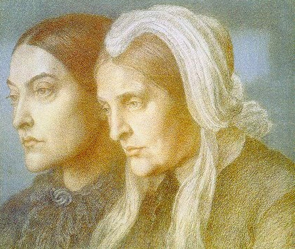 Christina Rossetti and Her Mother Frances by Dante Gabriel Rossetti, 1877