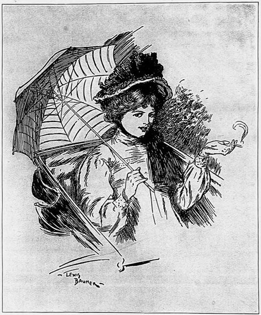 Frontispiece to The Sea Lady by H.G. Wells