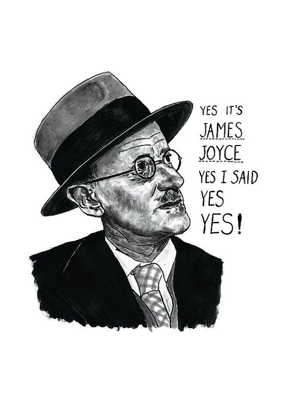 James Joyce Ulysses Print by Standard Designs