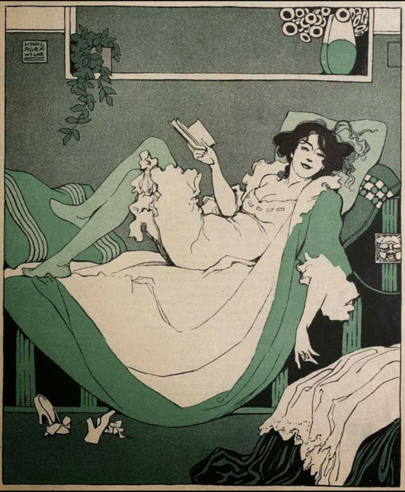 Woman Reading by Karl Alexander Wilke, circa 1912