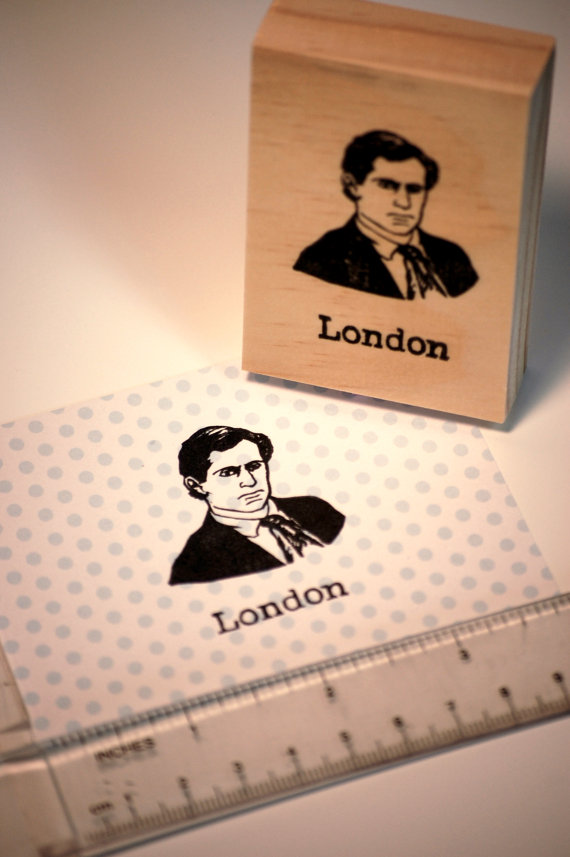 Jack London Stamp by StampingCache