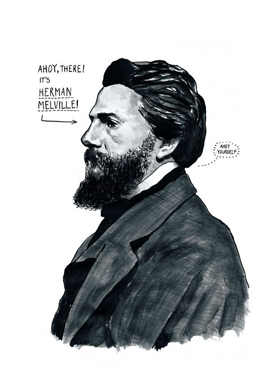 Herman Melville Poster Print by Standard Designs