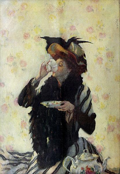 A Cup of Tea by Lilian Westcott Hale, 1909